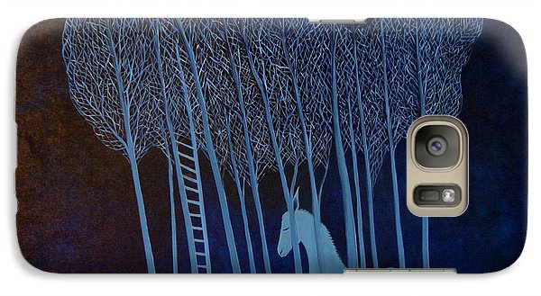 Galaxy Case featuring the painting Blue Dreams by Tone Aanderaa