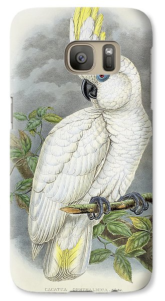 Blue-eyed Cockatoo Galaxy S7 Case by William Hart