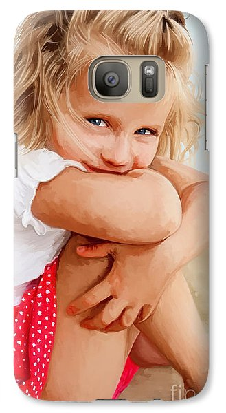 Galaxy Case featuring the painting Blue Eyed Girl by Tim Gilliland