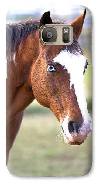 Galaxy Case featuring the photograph Blue Eyes by Gordon Elwell