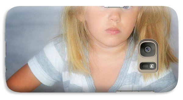 Galaxy Case featuring the photograph Blue Eyes by Kelly Reber