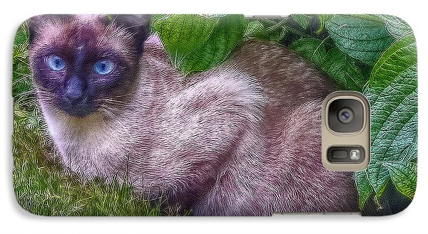 Galaxy Case featuring the photograph Blue Eyes - Signed by Hanny Heim
