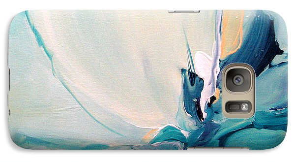 Galaxy Case featuring the painting Blue Falling by Elis Cooke