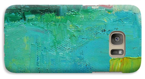 Galaxy Case featuring the painting Blue Field by Becky Kim
