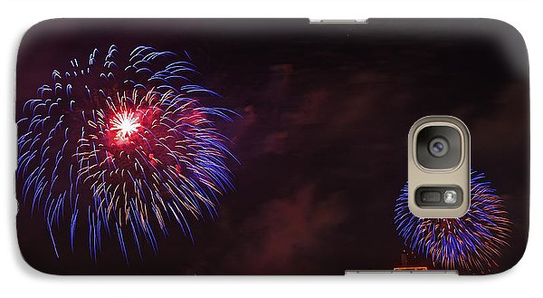 Blue Fireworks Over Domino Sugar Galaxy S7 Case