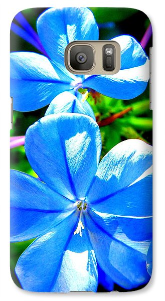Galaxy Case featuring the photograph Blue Flower by David Mckinney