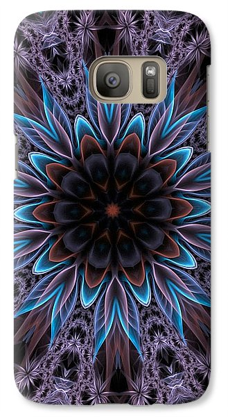 Galaxy Case featuring the digital art Blue Flower by Lilia D