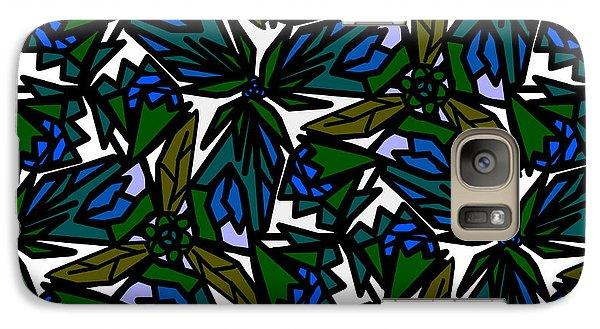 Galaxy Case featuring the digital art Blue Flowers by Elizabeth McTaggart