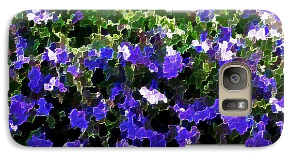 Galaxy Case featuring the digital art Blue Flowers On Sun by Dr Loifer Vladimir