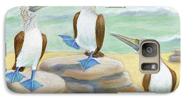 Galaxy Case featuring the painting Blue-footed Boobies by Jeanne Kay Juhos