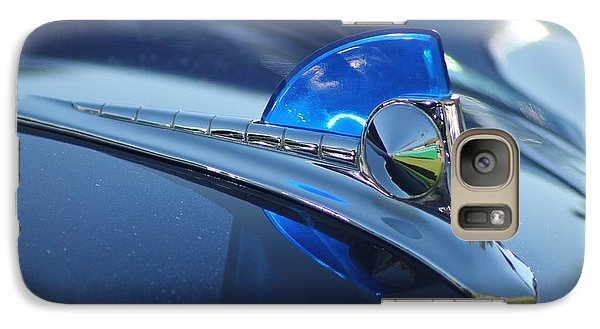 Galaxy Case featuring the photograph Blue Ford Hood Ornament by Dodie Ulery
