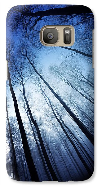 Galaxy Case featuring the photograph Blue Forest by Philippe Sainte-Laudy