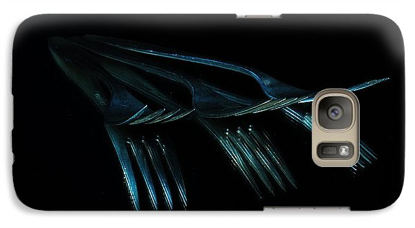 Galaxy Case featuring the photograph Blue Forks by Randi Grace Nilsberg