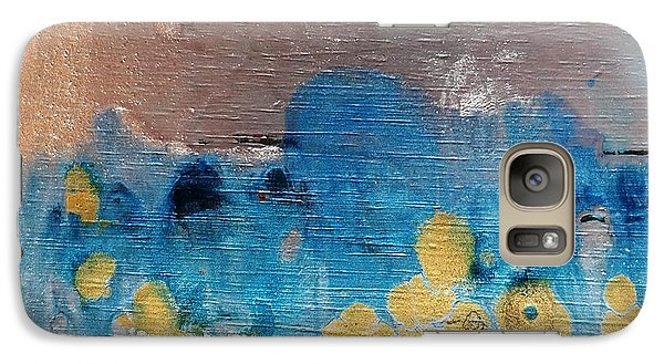 Galaxy Case featuring the painting Blue Frost by Yolanda Koh