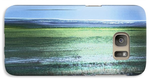 Blue Green Landscape Galaxy S7 Case