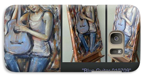 Galaxy Case featuring the painting Blue Guitar 010709 Comp by Selena Boron