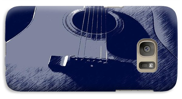 Galaxy Case featuring the photograph Blue Guitar by Photographic Arts And Design Studio