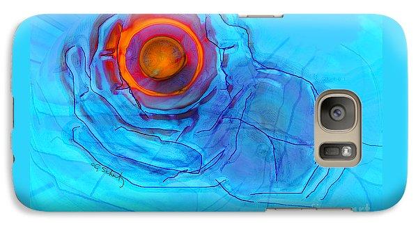 Galaxy Case featuring the digital art Blue Hand by Gabrielle Schertz