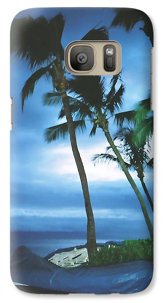 Galaxy Case featuring the photograph Blue Hawaii With Planets At Night by Connie Fox