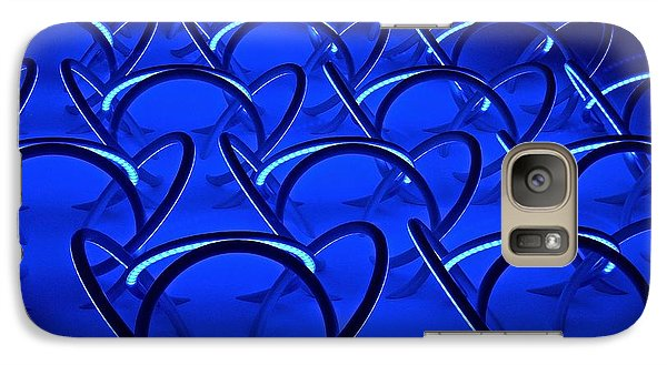 Galaxy Case featuring the photograph Blue Haze Circles by Joan Reese