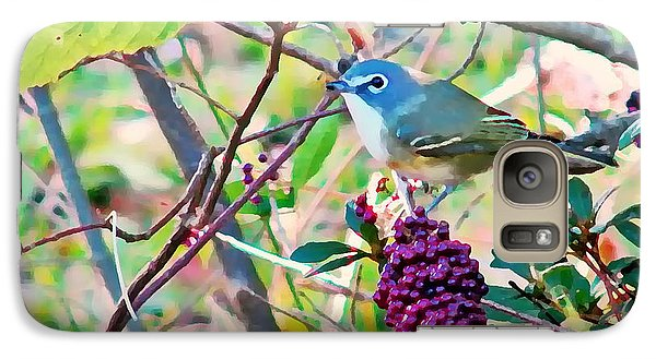 Galaxy Case featuring the photograph Blue-headed Vireo by Peg Urban