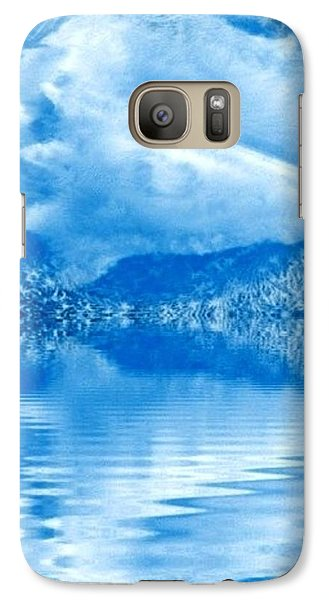 Galaxy Case featuring the mixed media Blue Healing by Ray Tapajna