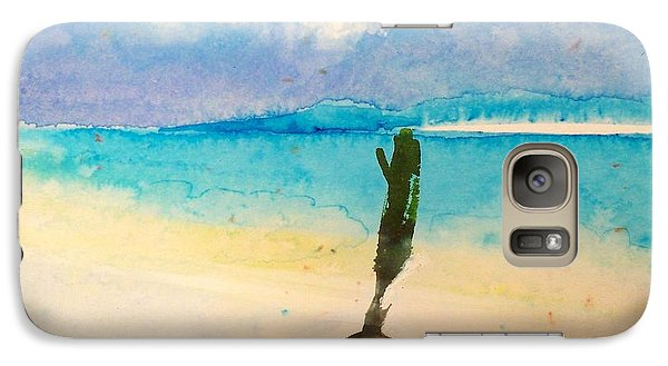 Galaxy Case featuring the painting Blue Heaven by Ed  Heaton
