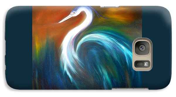 Galaxy Case featuring the painting Blue Heron by Dorothy Maier