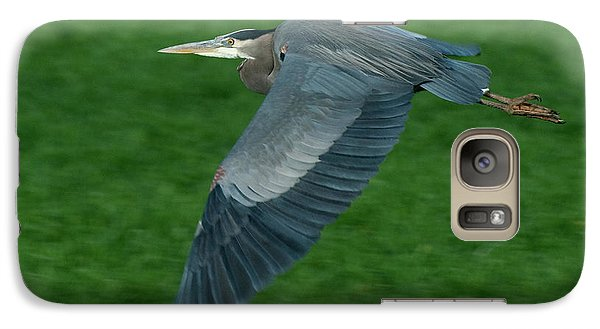 Galaxy Case featuring the photograph Blue Heron by Rod Wiens