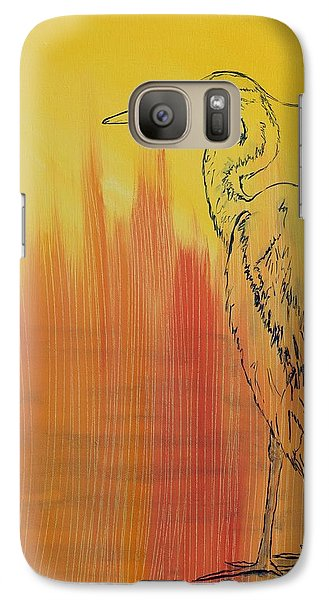 Galaxy Case featuring the painting Blue Heron by Susan Fisher