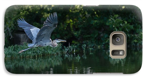 Galaxy Case featuring the photograph Blue Heron Take-off by John Johnson