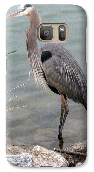 Galaxy Case featuring the photograph Blue Heron by Wendy Coulson
