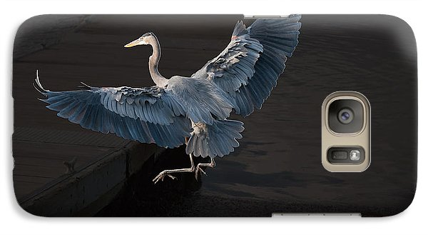 Galaxy Case featuring the photograph Blue Heron Wil 590 by G L Sarti