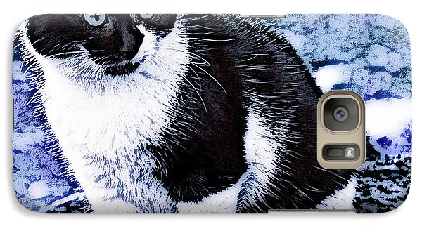 Galaxy Case featuring the photograph Blue Hindy by Selke Boris