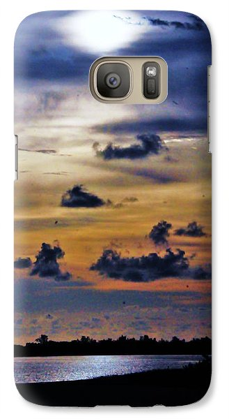 Galaxy Case featuring the photograph Blue Horizons by Kicking Bear  Productions