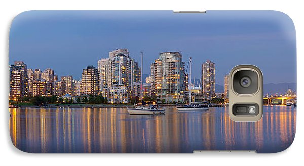 Galaxy Case featuring the photograph Blue Hour At False Creek Vancouver Bc Canada by JPLDesigns