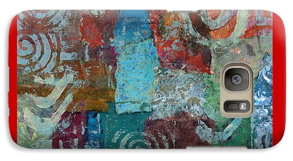 Galaxy Case featuring the mixed media Blue House by Catherine Redmayne