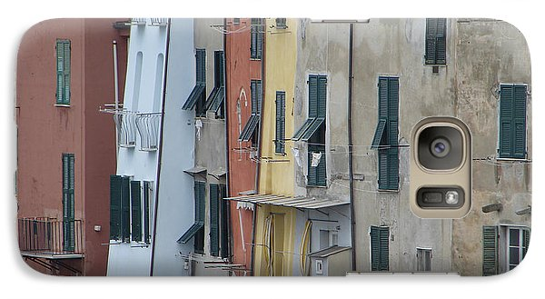 Galaxy Case featuring the photograph Blue House Portovenere Italy by Sally Ross