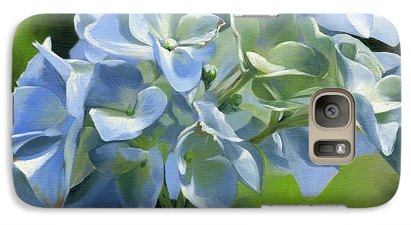 Galaxy Case featuring the painting Blue Hydrangea by Alecia Underhill