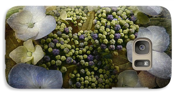 Galaxy Case featuring the photograph Blue Hydrangea by Barbara Orenya