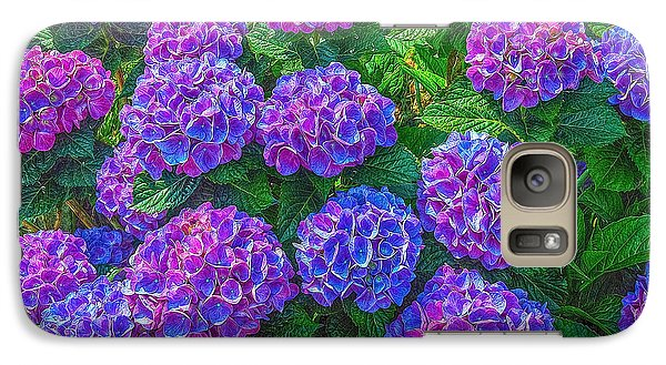 Galaxy Case featuring the photograph Blue Hydrangea by Hanny Heim