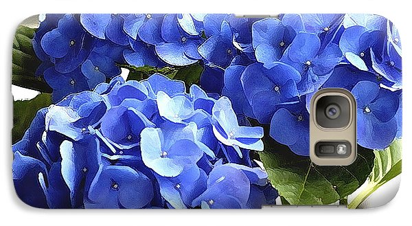 Galaxy Case featuring the photograph Blue Hydrangea by Lehua Pekelo-Stearns