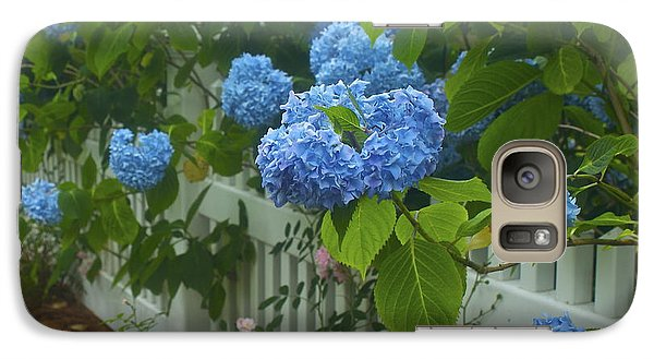 Galaxy Case featuring the photograph Blue Hydrangeas by Amazing Jules