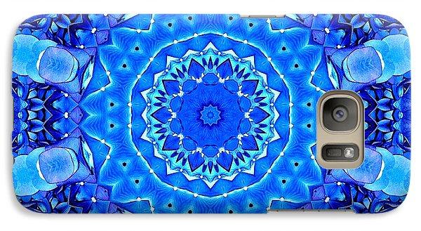 Galaxy Case featuring the photograph Blue Hydrangeas Flower Kaleidoscope by Rose Santuci-Sofranko