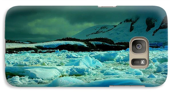 Galaxy Case featuring the photograph Blue Ice Flow by Amanda Stadther