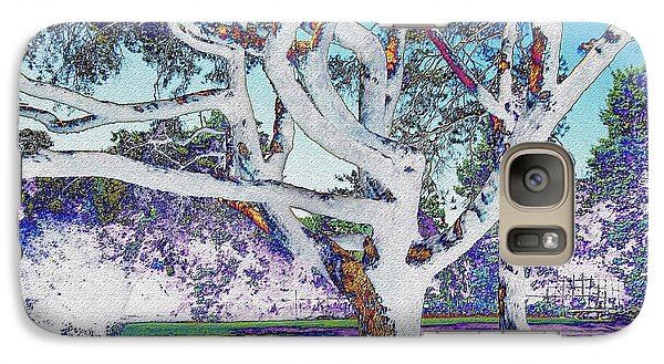 Galaxy Case featuring the photograph Blue Ice by Kathie Chicoine