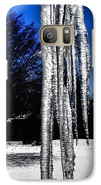 Galaxy Case featuring the photograph Blue Ice by Luther Fine Art