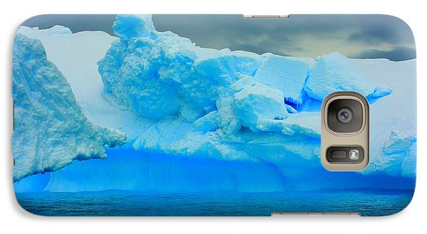 Galaxy Case featuring the photograph Blue Icebergs by Amanda Stadther