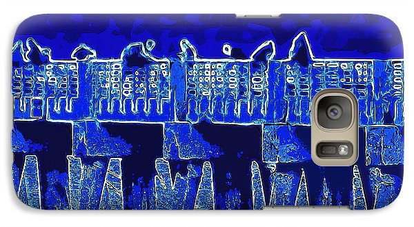 Galaxy Case featuring the painting Blue II Toy Sailboats In Lake Worth by David Mckinney