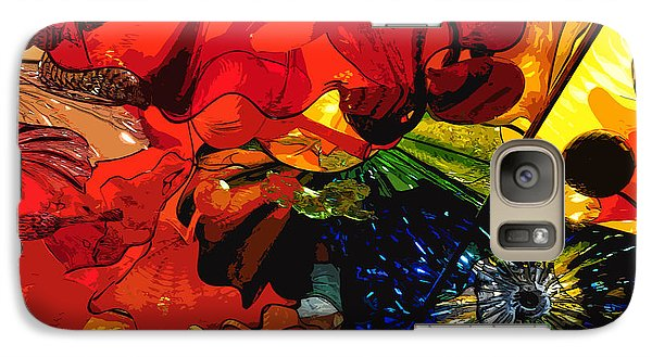 Galaxy Case featuring the digital art Blue In A Playground Of Red by Kirt Tisdale